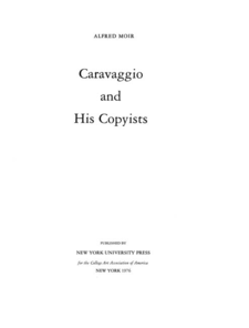 Cover image for Caravaggio and his copyists