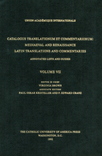 Cover image for Catalogus translationum et commentariorum: Mediaeval and Renaissance Latin translations and commentaries : annotated lists and guides., Vol. 7
