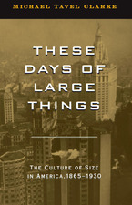 Cover image for These Days of Large Things: The Culture of Size in America, 1865-1930