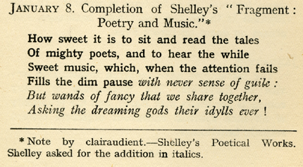 "Shirley Carson Jenney, completion of Shelley's ""Fragment: Poetry and Music,"" The Fortunes of Heaven, 12."
