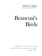 Cover image for Brancusi's birds