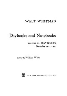 Cover image for Daybooks and notebooks, Vol. 2