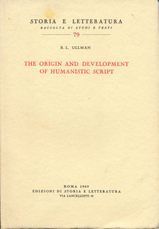 Cover for The origin and development of humanistic script