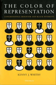 Cover image for The Color of Representation: Congressional Behavior and Black Interests
