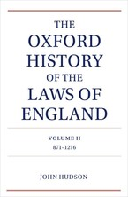 Cover image for The Oxford history of the laws of England, Vol. 2