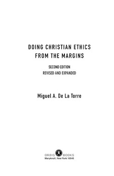 Cover image for Doing christian ethics from the margins