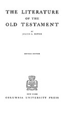 Cover image for The literature of the Old Testament