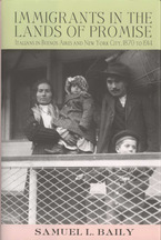 Cover image for Immigrants in the lands of promise: Italians in Buenos Aires and New York City, 1870-1914