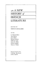 Cover image for A new history of French literature