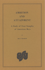Cover image for Ambition and attainment: a study of four samples of American boys