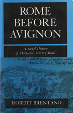Cover image for Rome before Avignon: a social history of thirteenth-century Rome