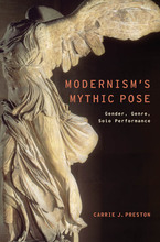 Cover image for Modernism's mythic pose: gender, genre, solo performance