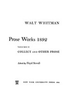 Cover image for Prose works 1892, Vol. 2