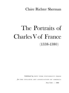 Cover image for The portraits of Charles V of France (1338-1380)